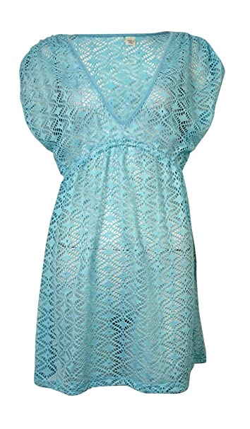 f65f88c16e09f Image Unavailable. Image not available for. Color  Miken Women s V-Neck  Crochet Dress Swimsuit Cover Up(XS ...