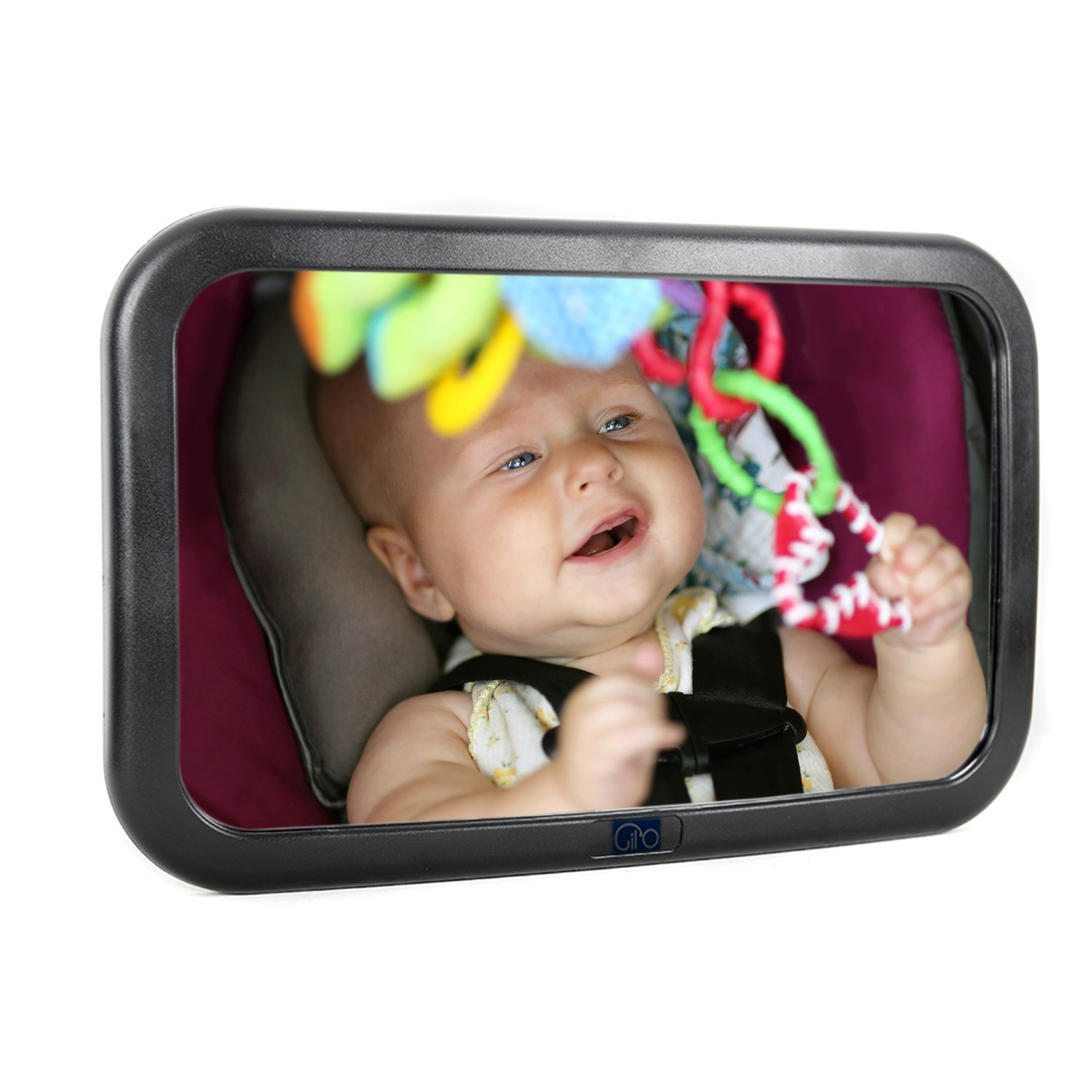Baby Car Mirror for Back Seat - View Rear Facing Infant in Backseat - Shatter proof - Gil'O Gil' O
