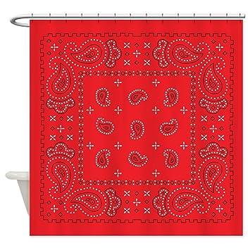 CafePress   Bandana Rodeo Shower Curtain   Decorative Fabric Shower Curtain