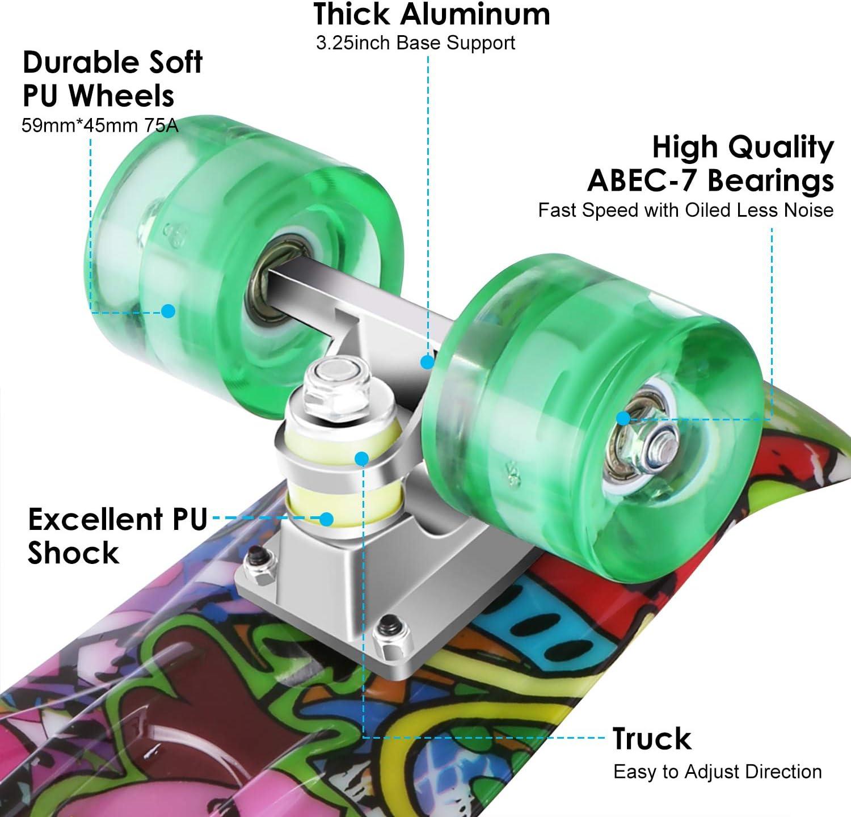 WeSkate Complete Mini Cruiser Skateboard - 2