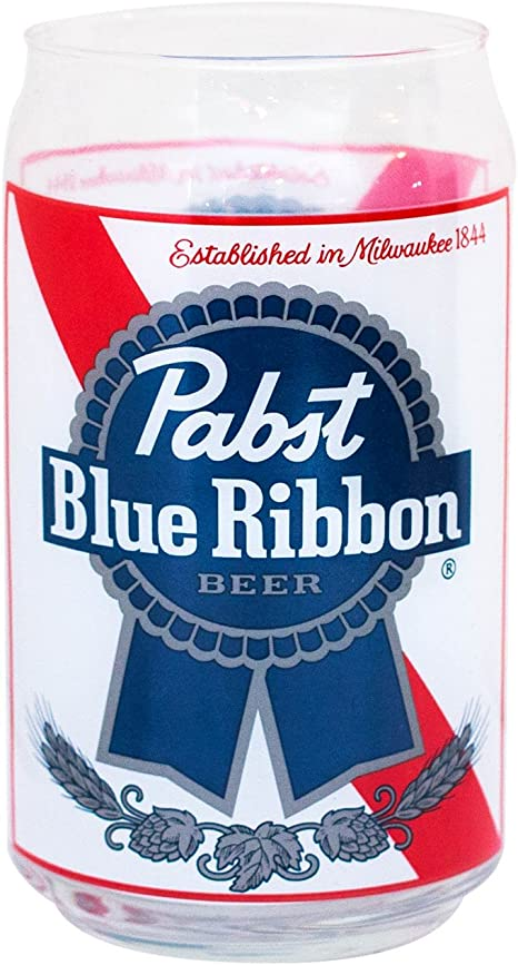 Pabst Blue Ribbon Beer Can Style Beer Glasses New FREE SHIPPING 6