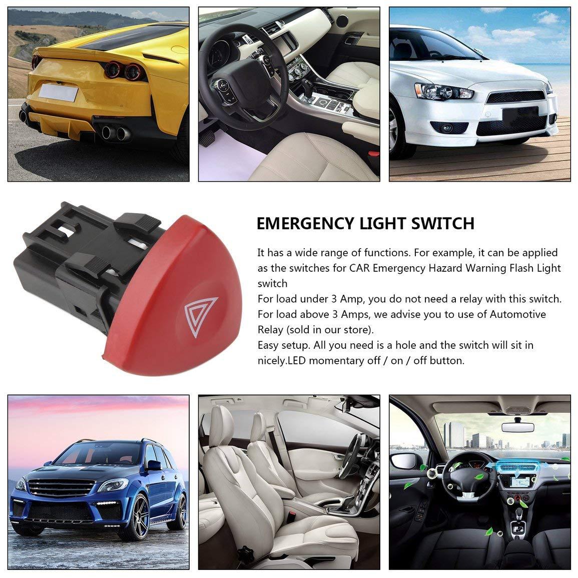 Commutateur avertisseur de d/étresse avertisseur de d/étresse Schalter pour Renault Laguna Master Trafic II Vauxhall 01-14 fghfhfgjdfj