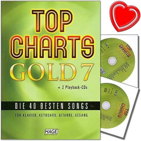 Top Charts Gold 7 – 40 mejores canciones para piano, teclado ...