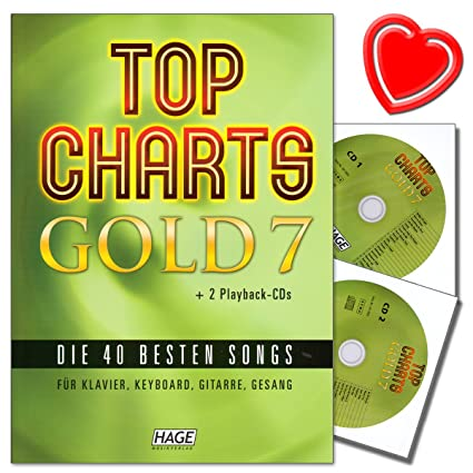 Top Charts Gold 7 – 40 mejores canciones para piano, teclado, guitarra y voz