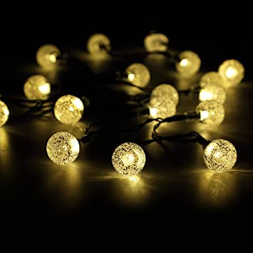 50 LED Solar String Lights Waterproof Solar Garden Lights Panpany 22ft  Crystal Ball Chrismas Decorative Lighting50 LED Solar String Lights Waterproof Solar Garden Lights Panpany  . Garden Patio Lights Uk. Home Design Ideas