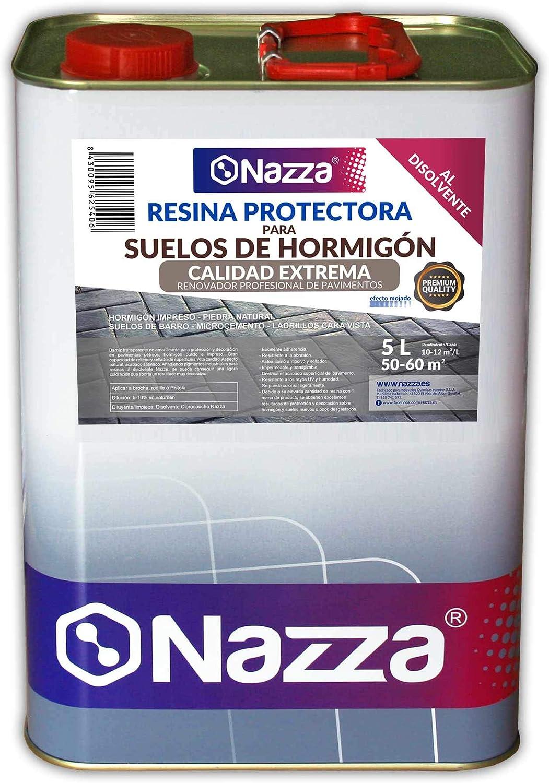 Resina Protectora para Suelos de Hormigón al Disolvente CALIDAD EXTREMA | Alto Rendimiento a Una Sola Capa | 5 Litros