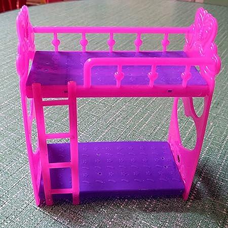 Letto A Castello Barbie.Majglge Letto A Castello Cartoon Plastica Mobili Giocattolo Per