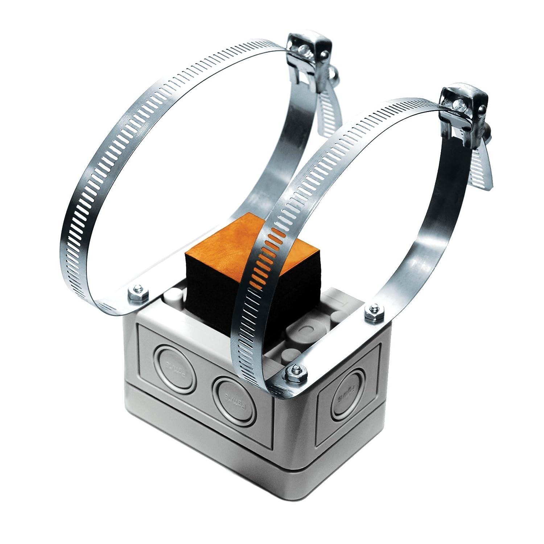 A/CP-S-4X | ACI | 10K ohm Type II | Metal Strap On Pipe Tube Temperature Sensor | NEMA 4X Housing Enclosure Box | Automation Components Inc. (ACI)