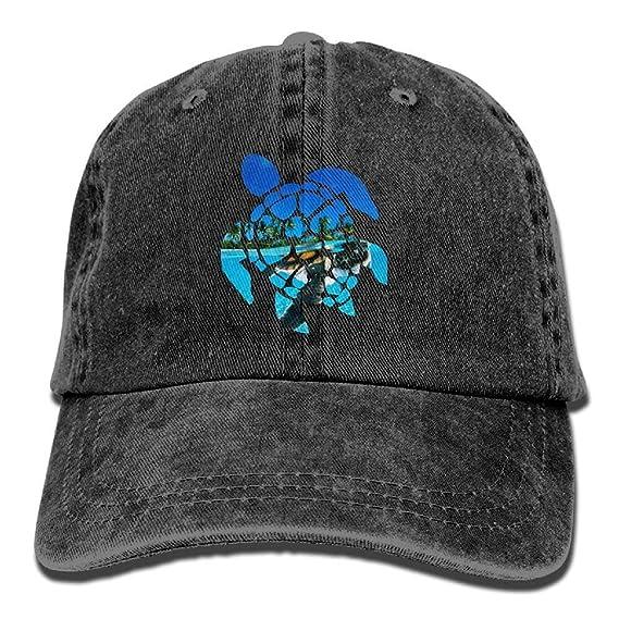 234ef1e4f Amazon.com: JINGJQINGCAO Mens Womens Baseball Cap Sea Turtle Cotton ...