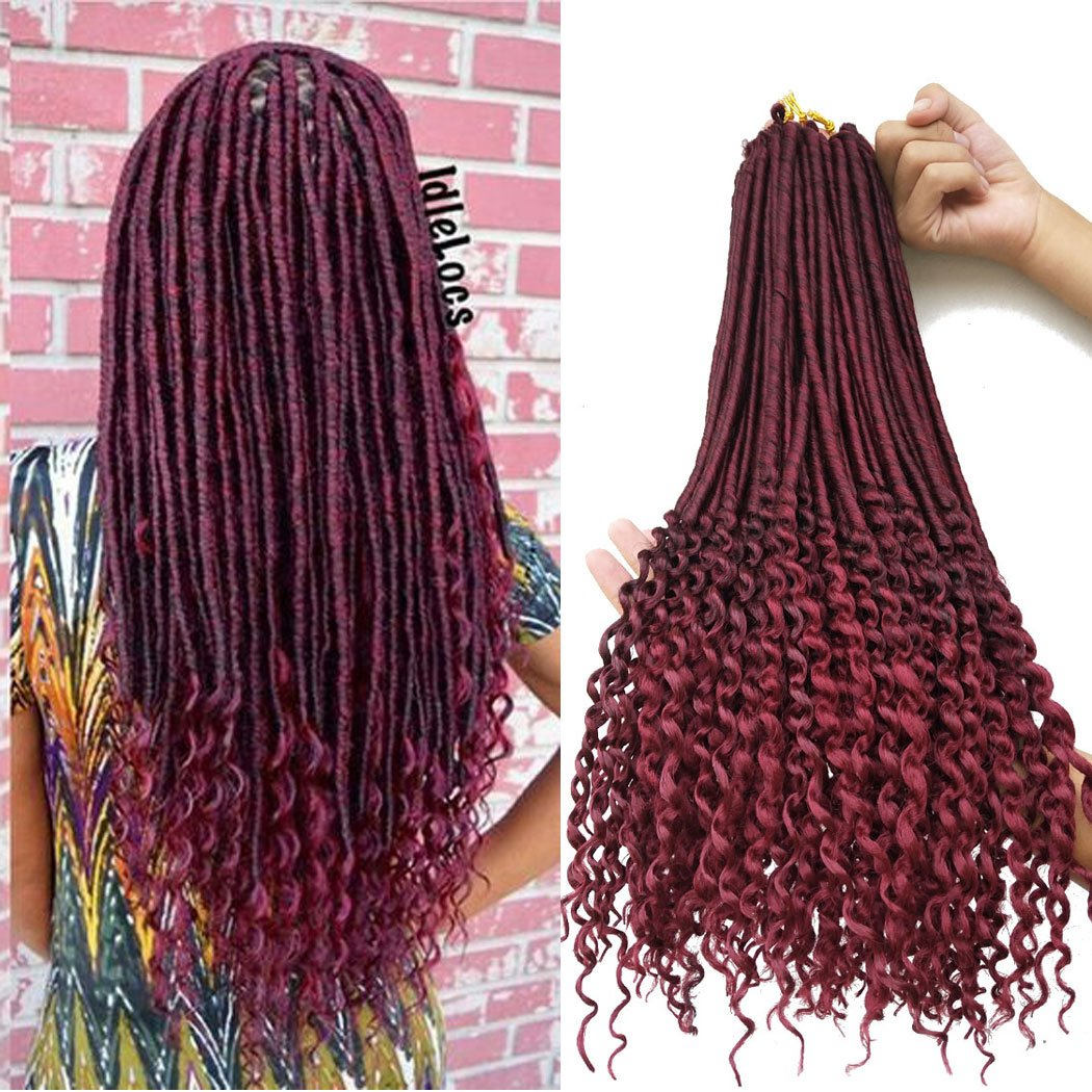 Amazoncom Faux Locs With Curly Ends 6packslot 20inch Crochet