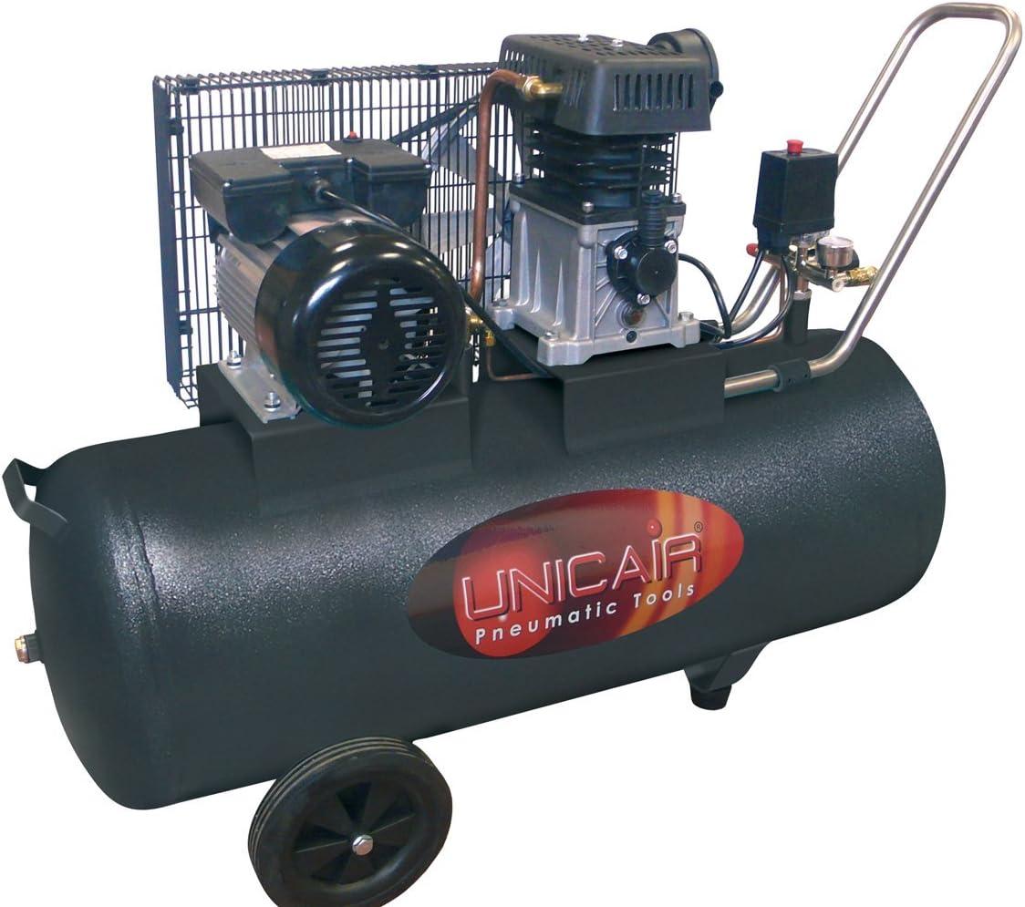 Compresor de aire UNICAIR CC-3/50L. 50 litros 3 HP. Transmisión ...