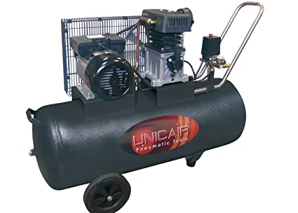 Compresor de aire UNICAIR CC-3/50L. 50 litros 3 HP. Transmisión