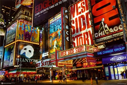 Superior Amazon.com: Times Square Theater District Poster 36 X 24in: Posters U0026 Prints