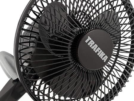21f7c80a69a TRAFIKA Clipfan Ventilador 15cm 5W Motor Magnético Bajo Consumo Ahorro  ENERGIA Exclusiva Pinza fijación Directa Barras Armarios Cultivo Incluye 2  ...