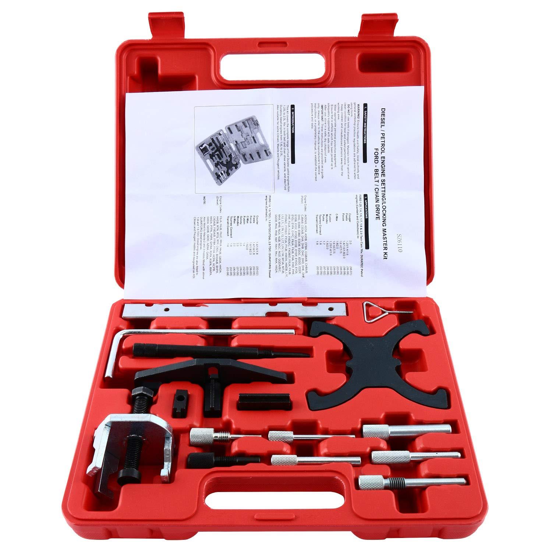 8MILELAKE Petrol & Diesel Engine Locking Timing Tool Kit Ford Mazda freebirdtrading Engine Timing