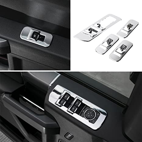 2015 F150 Accessories >> Voodonala Chrome Window Lift Panel Cover Switches Cover Trim For 2015 2016 2017 2018 Ford F150 Accessories