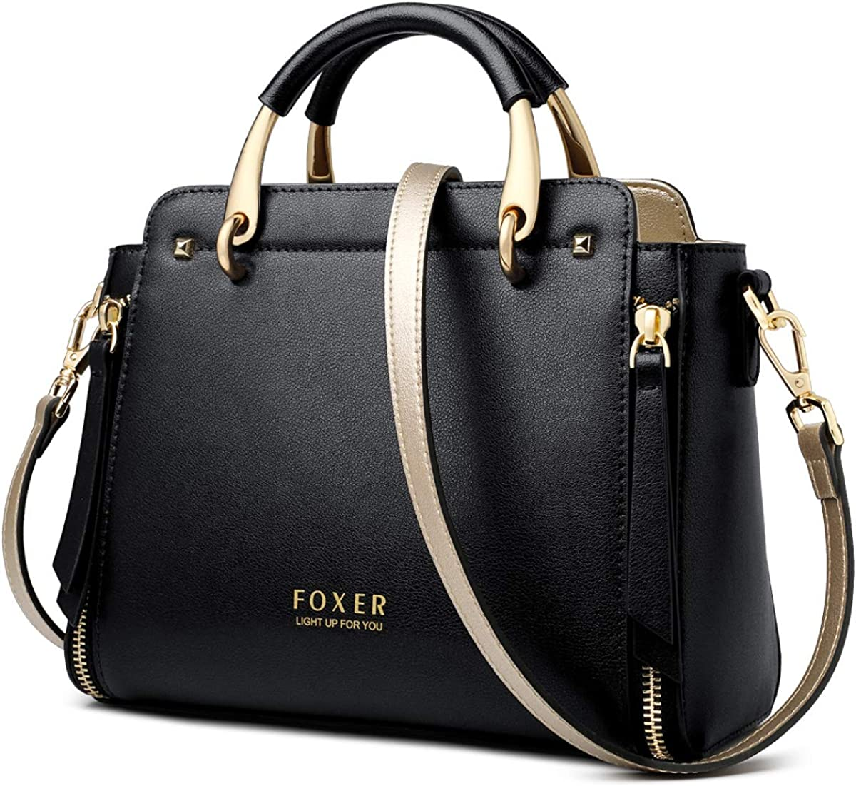 Genuine Leather Handbags for Women, Ladies Top-handle Bags with Adjustable Strap