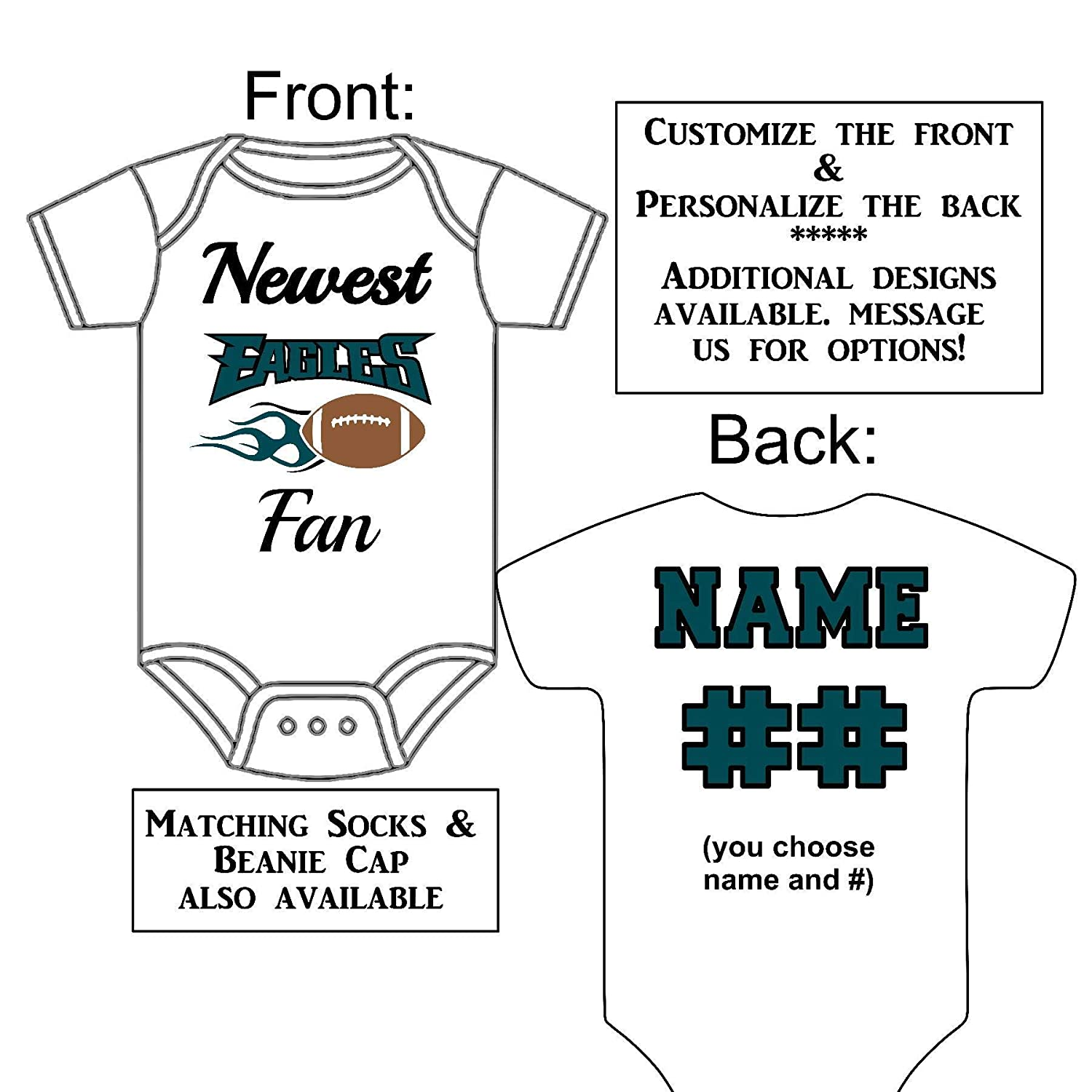 personalized eagles jersey