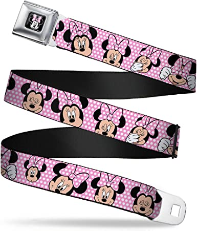 Buckle-Down Seatbelt Belt 1.0 Wide Minnie Mouse Polka Dots Red//White 20-36 Inches in Length