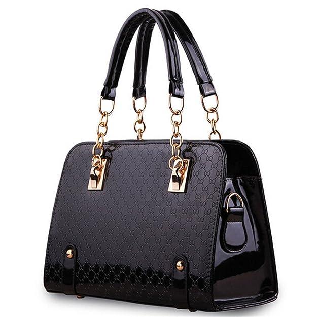 KDHJJOLY Practical Handbags Women Famous Brands Black Bag Pochette Soiree Woman Shoulder Bag Tote bag Hot Pink Chic: Handbags: Amazon.com