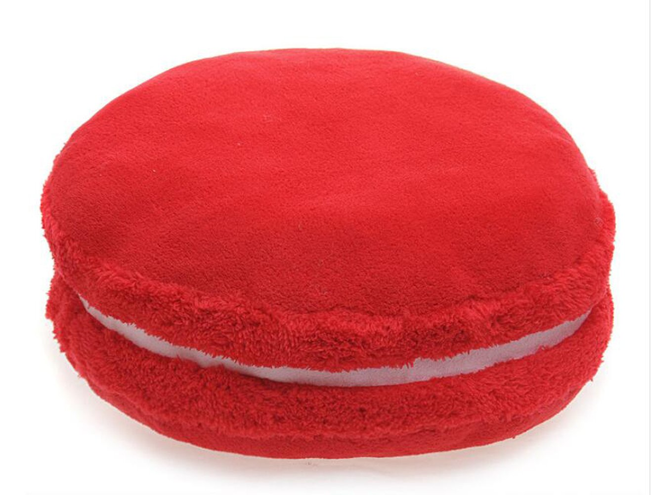Peacewish Creative Sweet Color Cushion Plush Toy Round Pillow Decorative Throw Pillow (Bingo cherry)