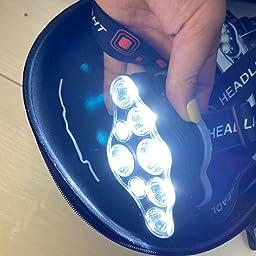 Amazon Co Jp Miotsukus ヘッドライト Ledヘッドランプ ルーメン 8 Led Usb充電 防水 赤 白ライト 8種モード Sports