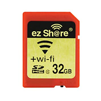 Ez Share SDHC Wifi Tarjeta de Memoria SD de 32 GB, Clase 10 Wireless LAN Inalámbrico para Cámara DSLR Móvil Inteligente iPhone iPad Ordenador Tableta