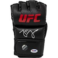 "$167 » Jon""Bones"" Jones Autographed Signed in Silver Black UFC MMA Glove PSA/DNA"