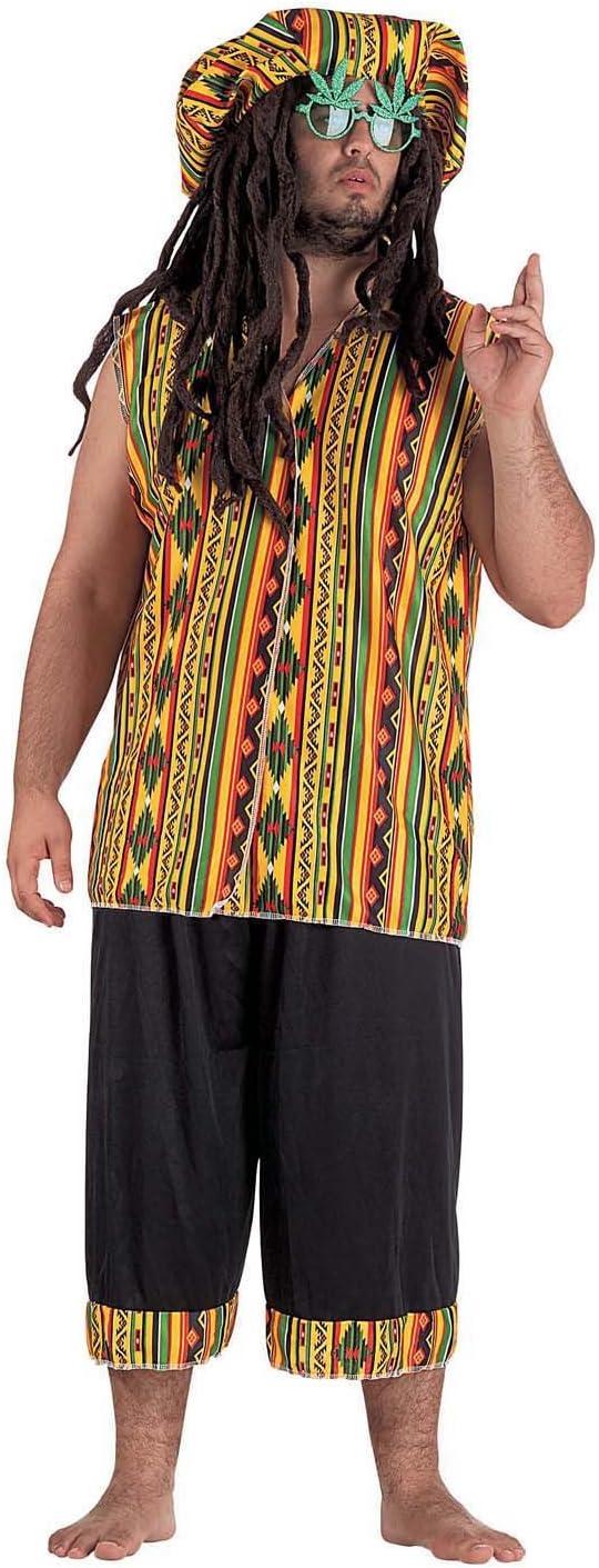 chiber Disfraces Disfraz de Jamaicano para Adulto. Talla Única (M ...