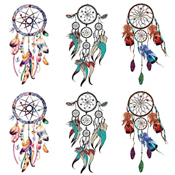 Amazon Com Yesallwas Dreamcatcher Tattoo Temporary For Women