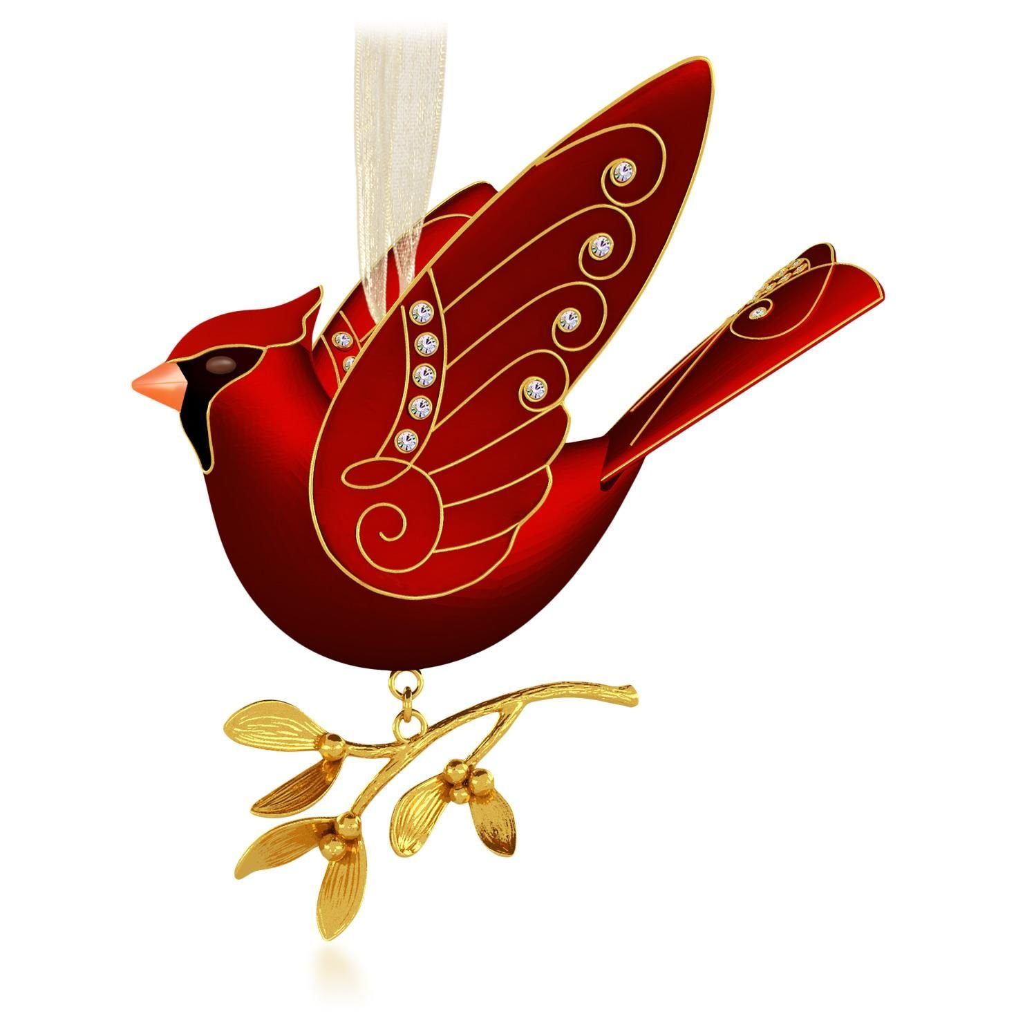 red bird christmas tree cardinal ornaments look wonderfully festive