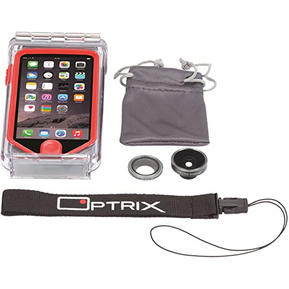 huge discount ff379 6fe2a Optrix by Body Glove 9466002 2 Lens Action Camera Kit for iPhone 5/5s/SE  w/Waterproof Case and Lenses