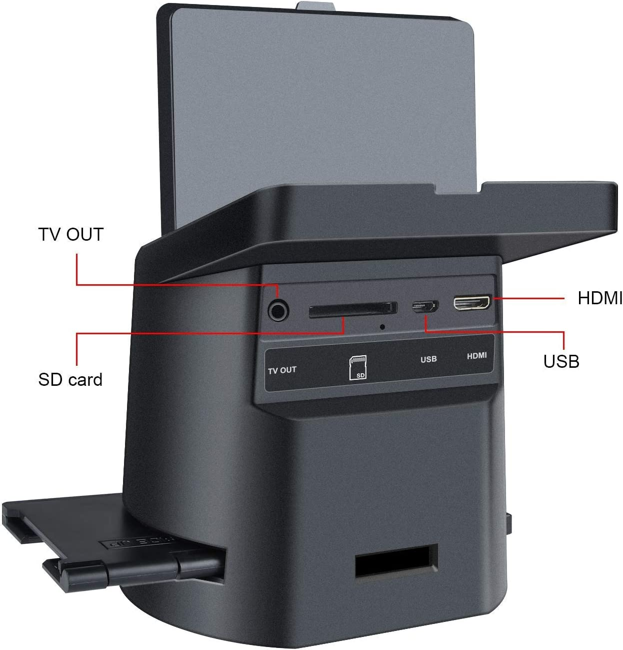 110 Converts 35mm Tilt-Up 3.5 LCD MAC and PC Compatible Film /&Slide Scanner with 22MP Film Inserts Slides Negatives to JPEG Super 8 Films Includes Cables 126
