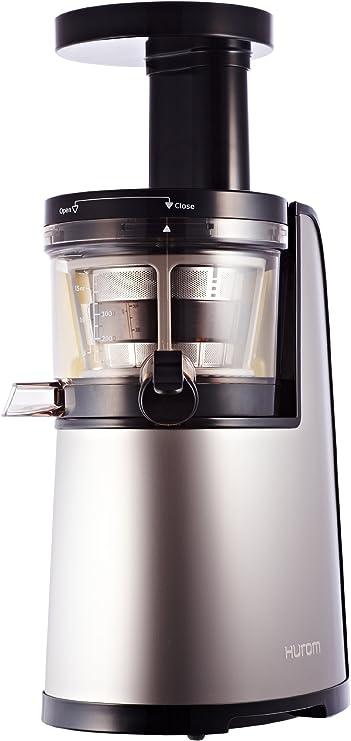 Hurom HG 600 - Licuadora vertical, color gris metalizado: Amazon ...