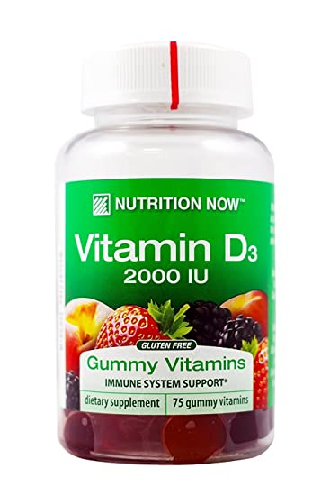 Nutrition Now Vitamin D Adult Gummy Vitamins 2000 IU