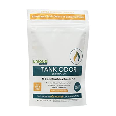 Unique Tank Odor Eliminator - Drop-In Pod - Pack of 10 | Hot Weather Formula - Eliminates Odors In Extreme Heat: Automotive