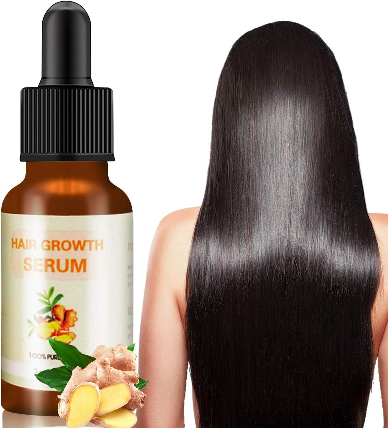 J TOHLO-60ml SerumCabello Anti Pérdida de Cabello para el crecimiento del cabello y fortalece los folículos esencia de hierbas naturales Estimula el Crecimiento Cabello para Hombres y Mujeres
