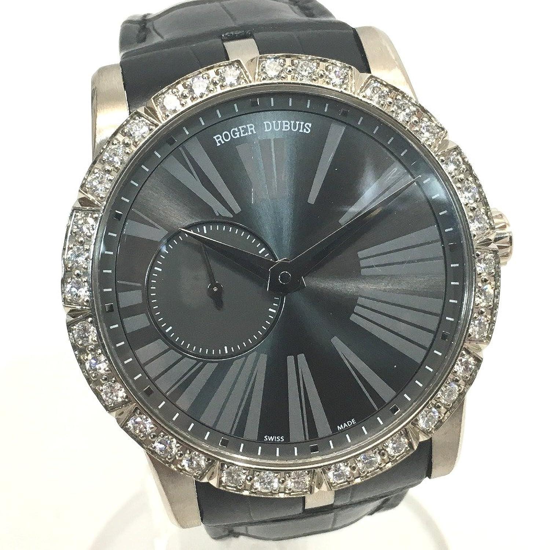 (ロジェデュブイ) ROGER DUBUIS RDDBEX0347 エクスカリバー42 金無垢 ダイヤベゼル メンズ腕時計 裏スケ 腕時計 K18WG/革ベルト メンズ 中古 B0794YTJVM