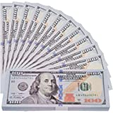 200 Pieces Prop Game Money- Motion Picture Money Realistic Double Sided Stacks for Movies, Kids Party, Game Prop