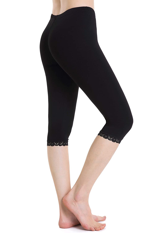 Capri Leggings 3 4 Femme Short sous Jupe Pantalon de Sport élastique légers  Doux 278641cfdd3