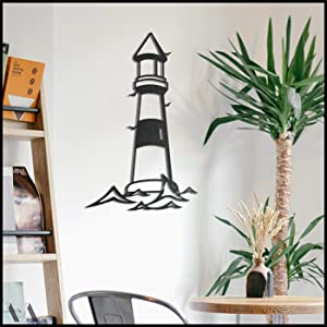 Light House | Metal Wall Decor, Metal Wall Art, Metal Wall Hangings, Metal Wall Signs, Metal Art, Housewarming Wall Arts, Lighthouse Metal Art