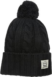 0c4211febc55 Levi's Men's Pompom Cable Beanie Hat, Charcoal, One Size at Amazon ...