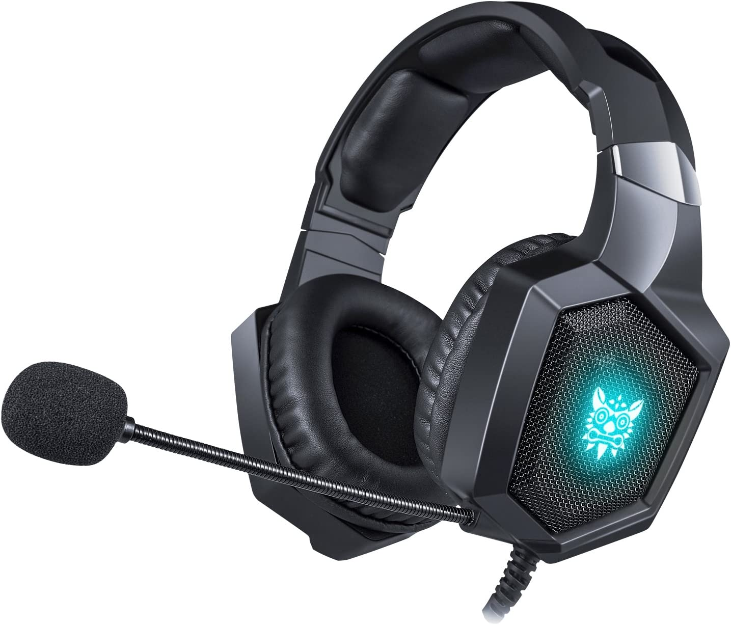 EasySMX Gaming Headset Xbox One Headset PS4 Headset, PC Headset with Noise Canceling Mic RGB LED Light, Gaming Headset for PS4, PC, PS3, Xbox One