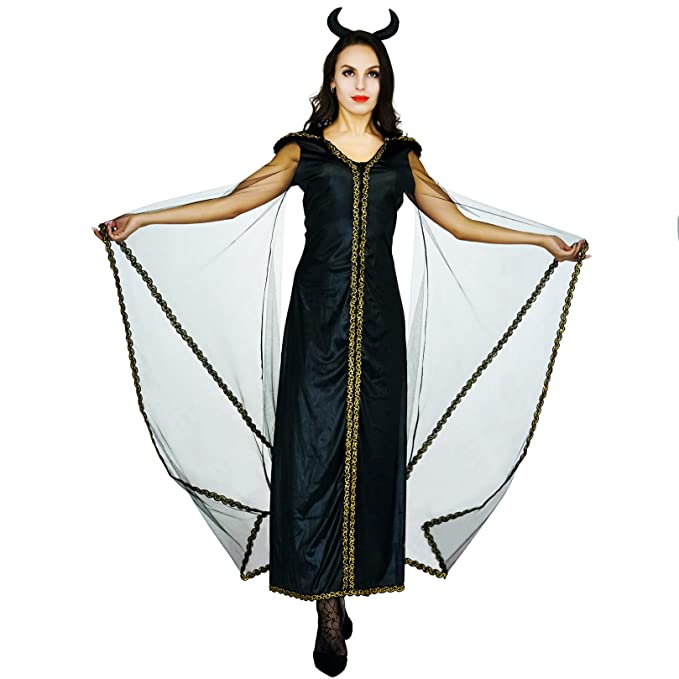 Amazon.com: flatwhite Halloween Womens Devil Costumes Fancy ...