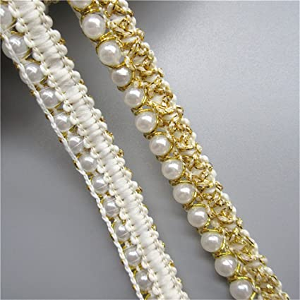 1.5cm Beautiful gold glittery lace trim edging for crafts arts sewing 1 metre