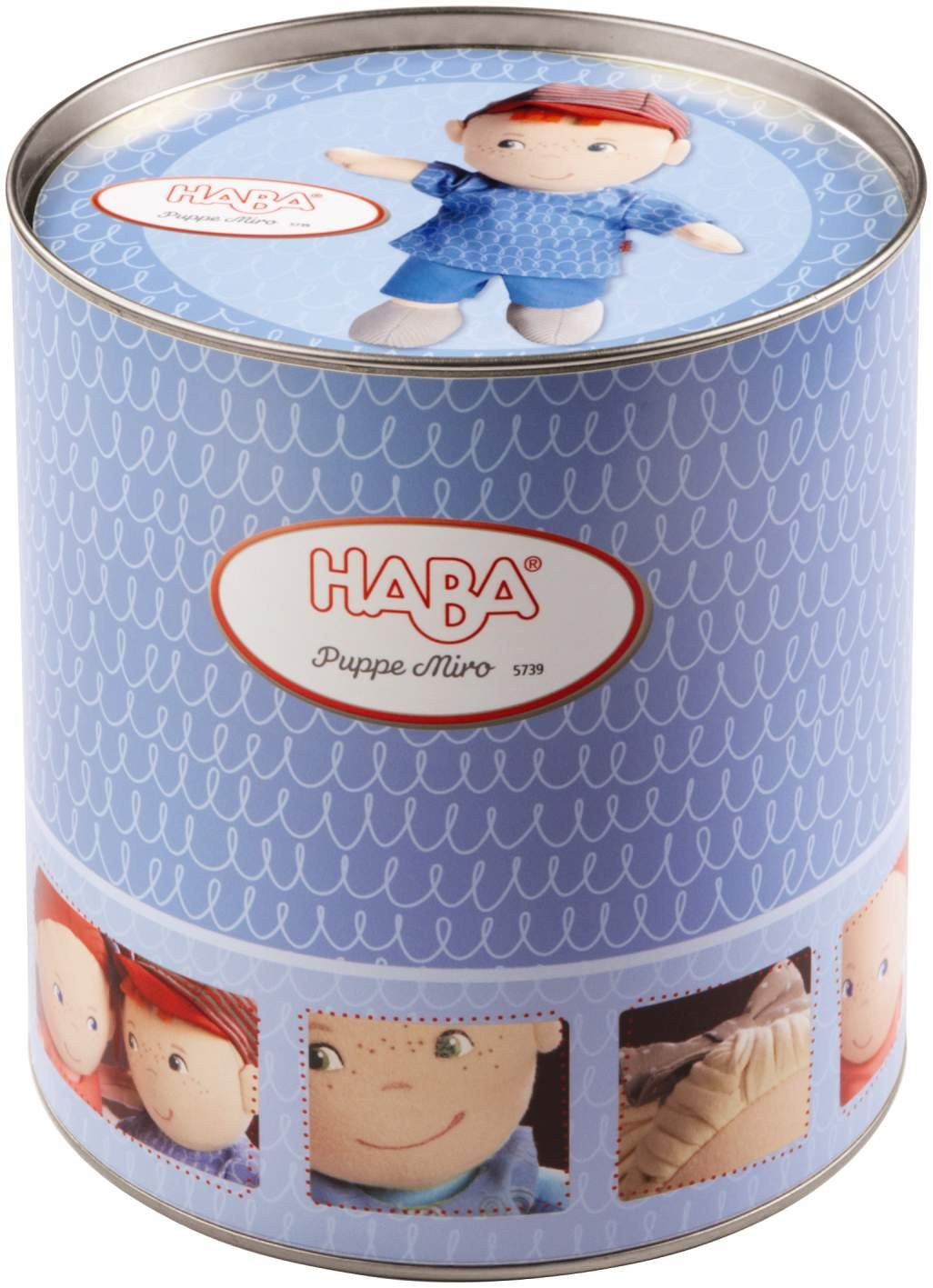 HABA Soft Doll Miro 8 First Baby Boy Doll with Red Hair for Ages 6 Months and Up 5739