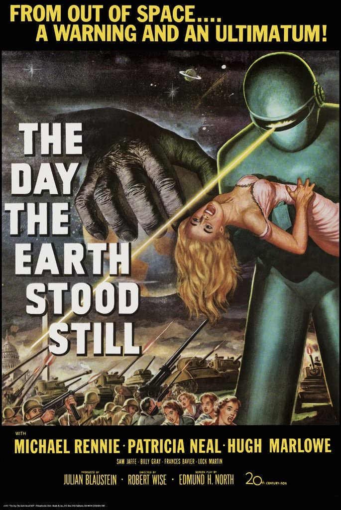 The Day The Earth Stood Still By Robert Wise 1951 Movie Poster 24x36 New Rare Reproduction Not An Original Posters Prints