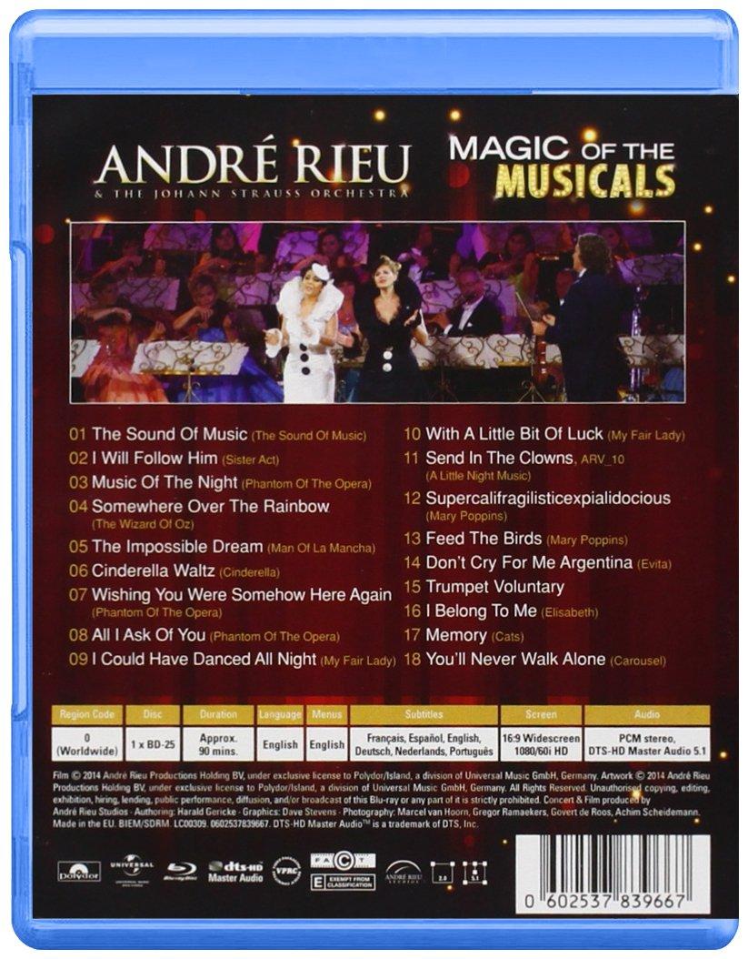 Magic Of The Musicals [Alemania] [Blu-ray]: Amazon.es: André Rieu, Varios: Cine y Series TV