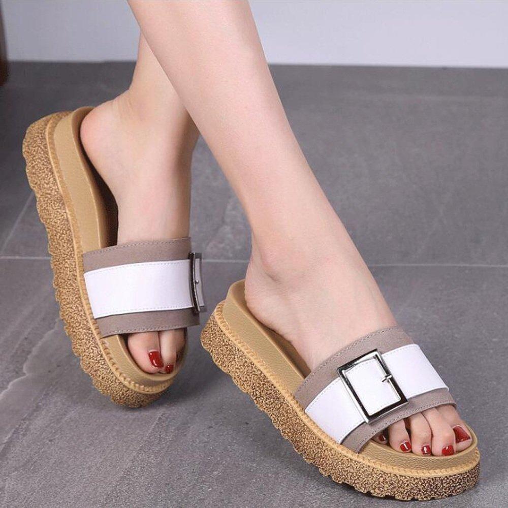 Sandali e Pantofole, Selvaggio, Moda, Fondo Piatto, Scarpe Casual, Scarpe Donna da Donna Scarpe Marrone 3e3c1e