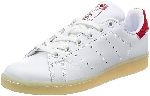 adidas Stan Smith W, Scarpe da Ginnastica Donna, Bianco Ftwwht/Colred, 36